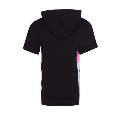 Kids Black Fleece Hoodie Dress