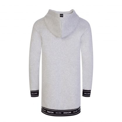 Kids Light Grey Hooded Sweater Dress