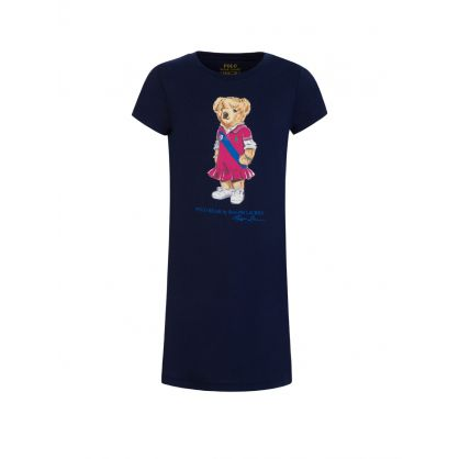 Kids Navy Polo Bear Dress