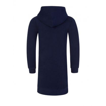 Kids Navy Fleece Hoodie Dress