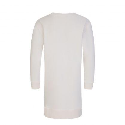 Kids White Polo Bear Fleece Dress