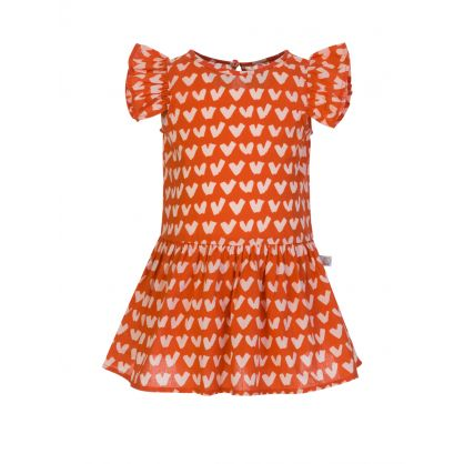 Red Hearts Baby Dress