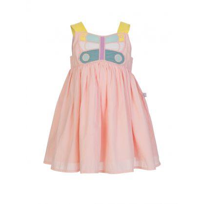 Pink Butterfly Patch Dress