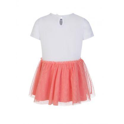 White/Pink Baby Flamingo Dress