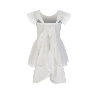 Cream Butterfly Tulle Dress
