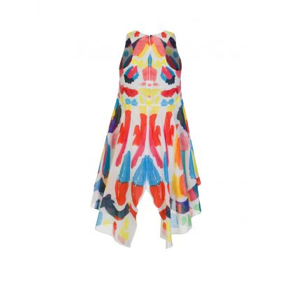 Multicoloured Butterfly Print Dress