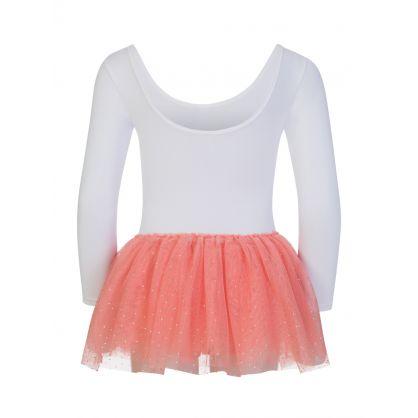 White/Pink Flamingo Dress