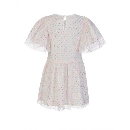 White Dots Tulle Dress