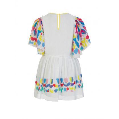 Cream Multicoloured Dress