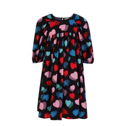 Black Hearts Tencel Twill Dress
