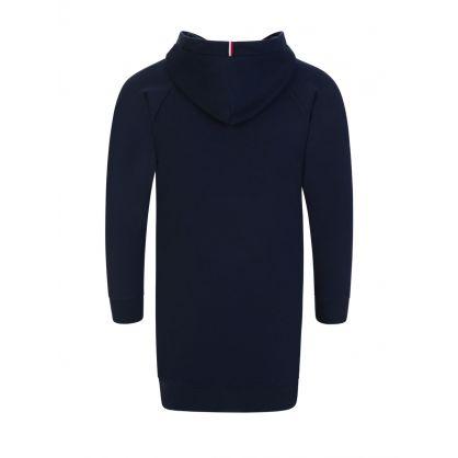 Kids Navy Hooded Sweater Dress