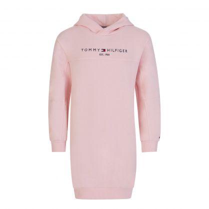 Kids Pink Essential Hoodie Dress