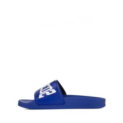 Kids Blue Boxer Logo Slides