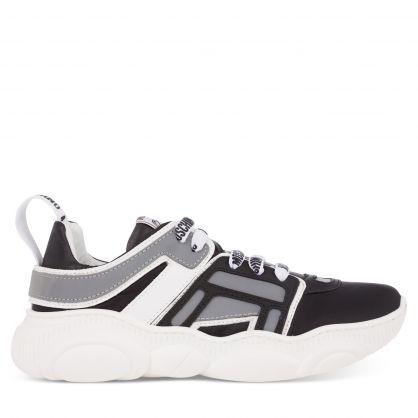 Kids Black/White/Grey Running Trainers
