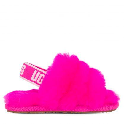 Kids Pink Fluff Yeah Slides
