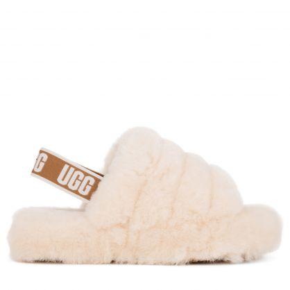 Kids Natural White Fluff Yeah Slides