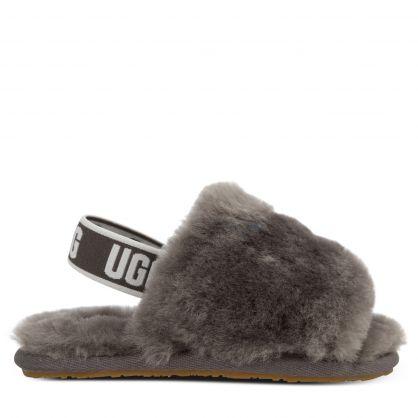 Kids Grey Fluff Yeah Slides