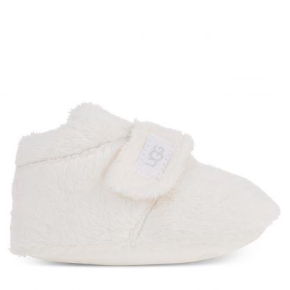 Kids White Bixbee Boots & Beanie Hat Gift Set