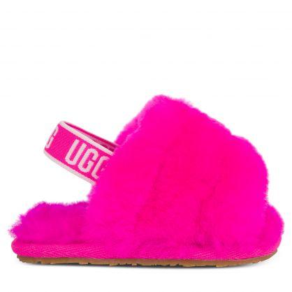 Kids Pink Fluff Yeah Slides Gift Set