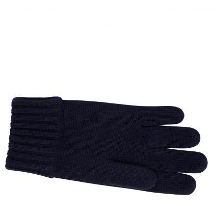Kids Navy Merino Wool Gloves