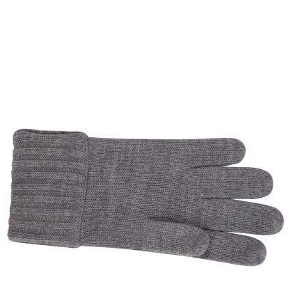Kids Grey Plain Wool Gloves