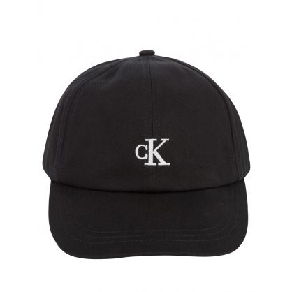 Kids Black Monogram Baseball Cap