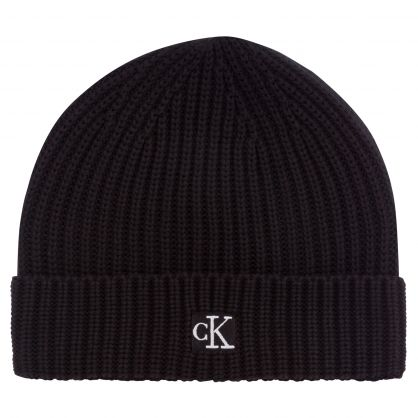 Kids Black Organic Cotton Beanie Hat