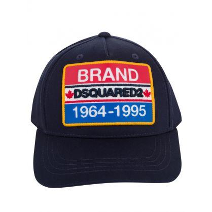 Kids Navy Brand Plate Logo Cap