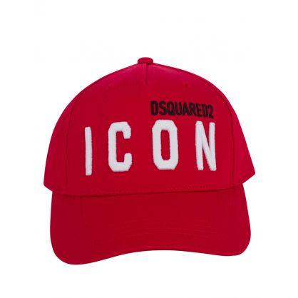 Kids Red/White DSQ2 ICON Cap