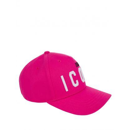 Kids Pink/White DSQ2 ICON Cap