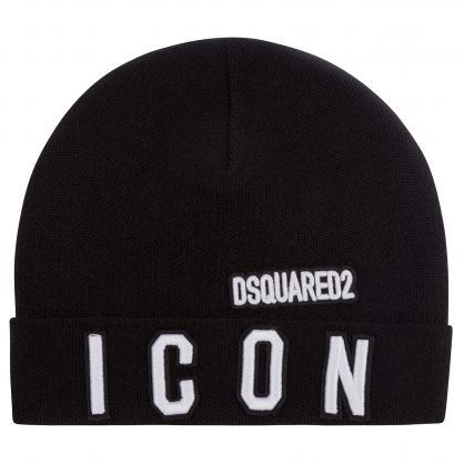 Kids Black ICON Beanie Hat