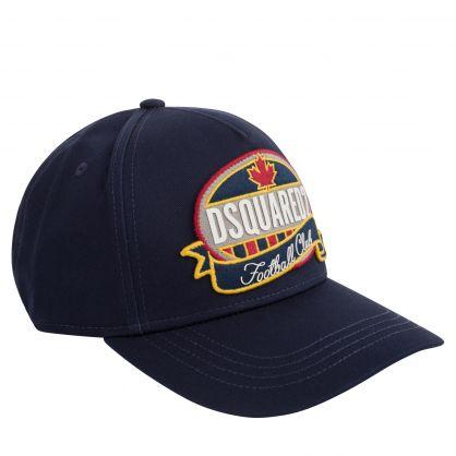 Kids Navy 'Football Club' Cap