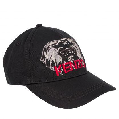 Black Elephant Logo Cap