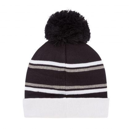 Black/White Logo Bobble Hat