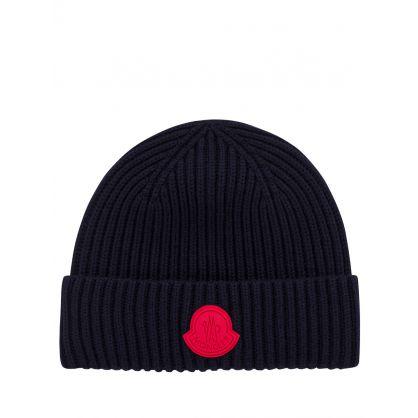 Navy Logo Beanie Hat