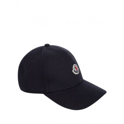 Navy Cotton Logo Cap