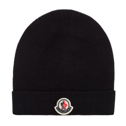 Black Logo Beanie Hat