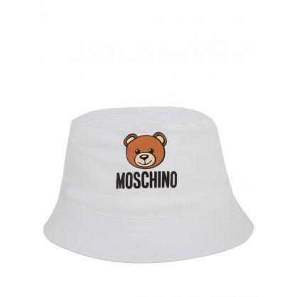 Kids White Baby Bucket Hat