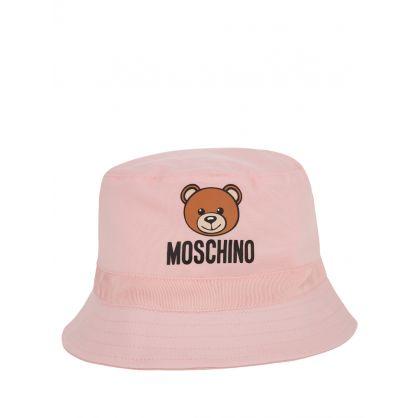 Kids Pink Baby Bucket Hat