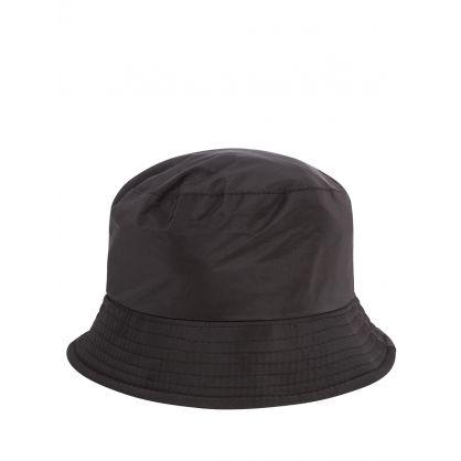 Kids Black Thunderbolt & Star Bucket Hat