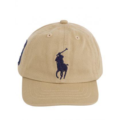 Kids Khaki Chino Big Pony Cap (3-9 Months)