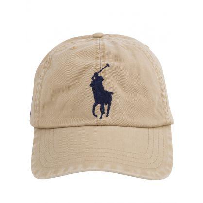 Kids Khaki Chino Big Pony Cap