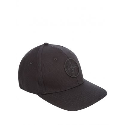 Junior Black Compass Patch Logo Cap