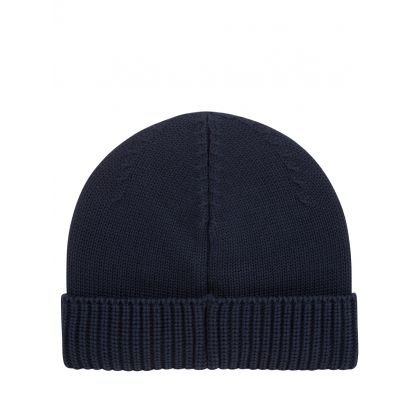 Junior Navy Logo Patch Beanie