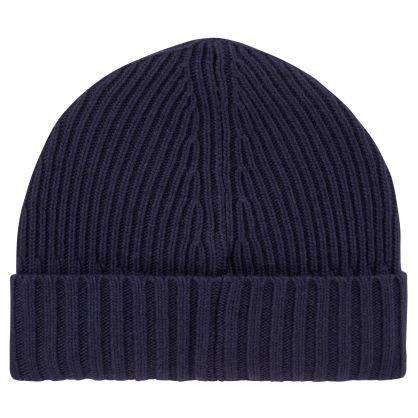 Junior Navy Blue Compass Patch Beanie Hat