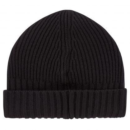 Junior Black Compass Patch Beanie Hat