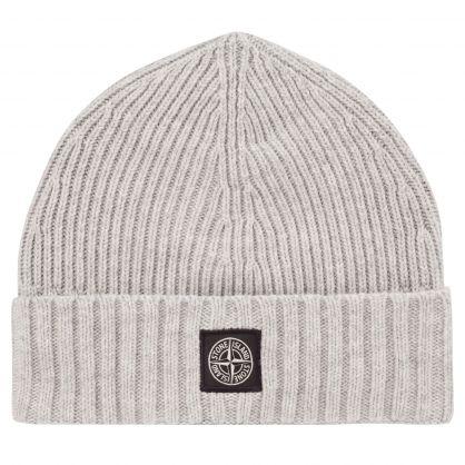 Junior Grey Compass Patch Beanie Hat
