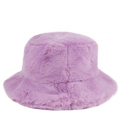 Lilac Junior Faux-Fur Medusa Bucket Hat