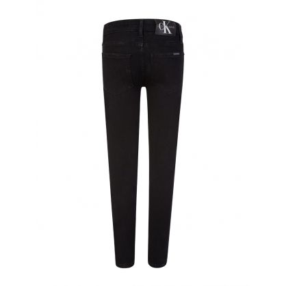 Kids Black Skinny-Fit Stretch Jeans