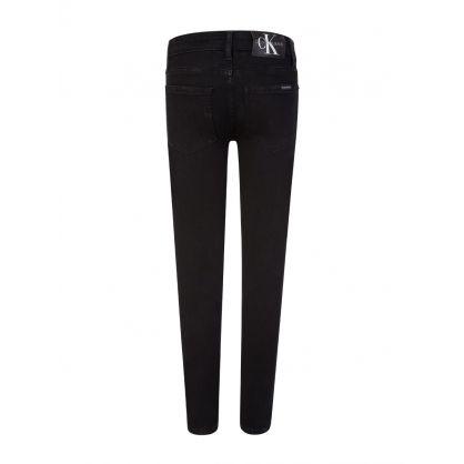 Kids Black Skinny-Fit Stretch Jeans